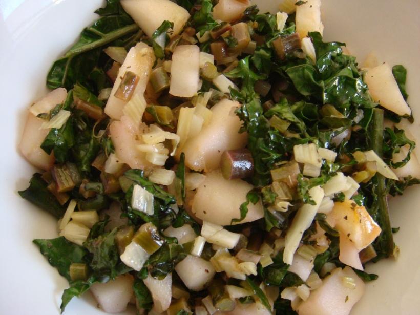 apple fennel kale