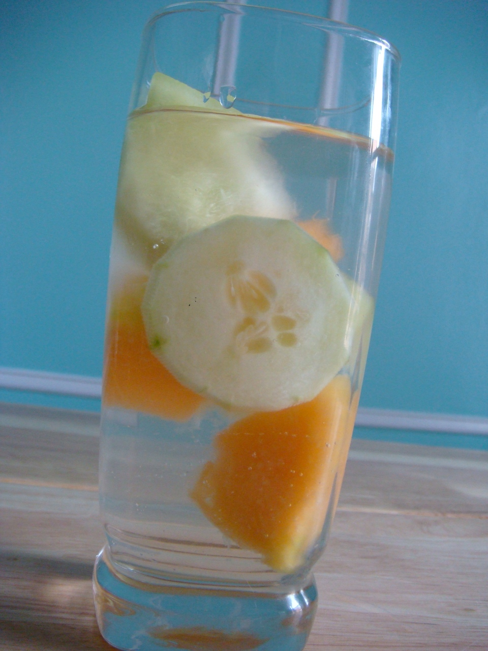 Refreshing melon and cucumber water