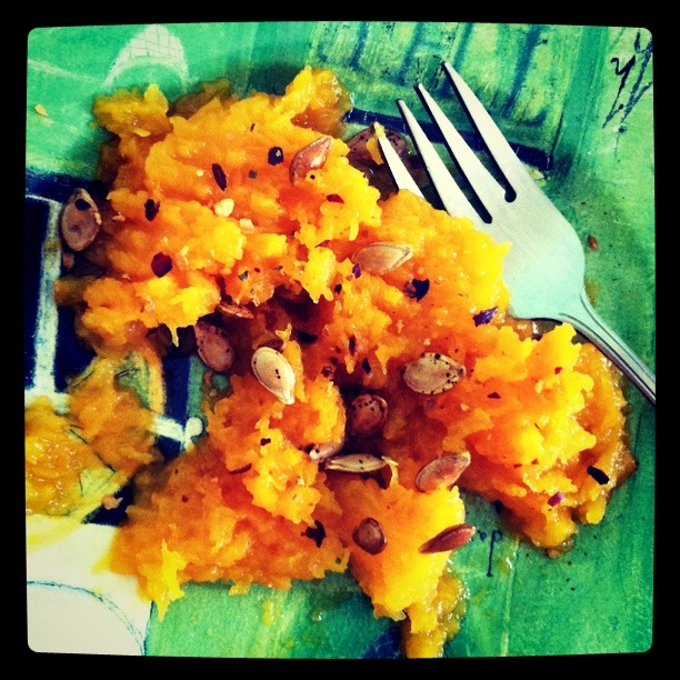 Butternut squash mash with spices