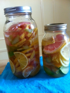citrus in jars