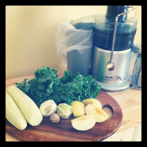 Ingredients for Green Dream Juice